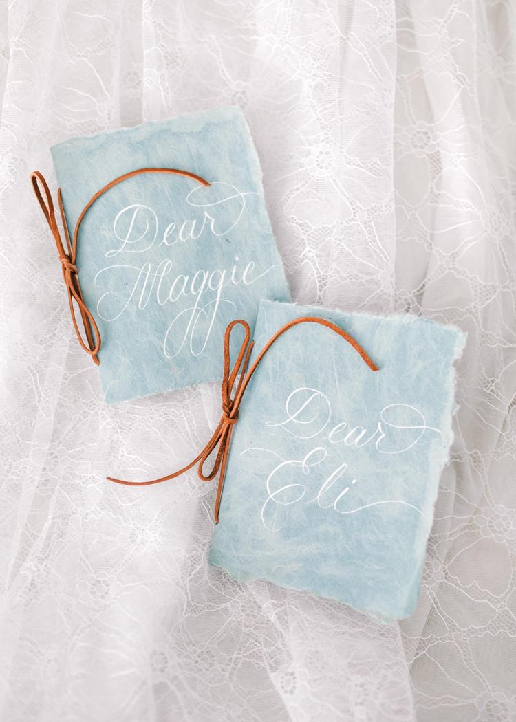 Custom vow books by Tiffany Ambrosia
