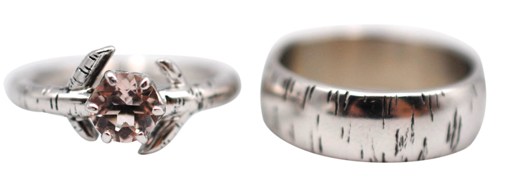 His and Hers Birch Wedding Set